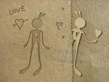 Papel en amor Fotos de archivo