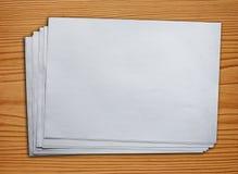 Papel en blanco Fotos de archivo