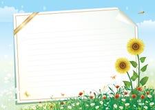 Papel en blanco con el ornamento floral libre illustration