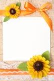 Papel en blanco de la vendimia Imagenes de archivo