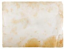 Papel en blanco de la vendimia Imagen de archivo