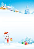 Papel en blanco para el saludo de la Navidad ilustración del vector