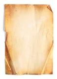 Papel en blanco viejo Imagen de archivo