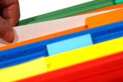 Papel en blanco y carpetas de fichero Imagen de archivo libre de regalías