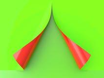 Papel encrespado ilustración del vector