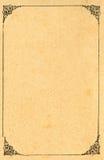 Papel enmarcado adornado Imágenes de archivo libres de regalías