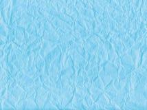 Papel enrugado azul Fotos de Stock Royalty Free