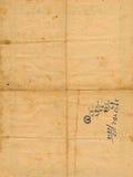 Papel envejecido antiguo con el fondo de los números Foto de archivo