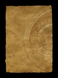 Papel envelhecido com pulso de disparo do zodíaco ilustração stock