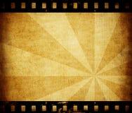 Papel envelhecido com textura da tira da película Fotografia de Stock