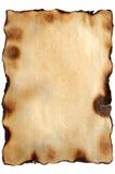 Papel envelhecido queimado da textura Fotos de Stock Royalty Free