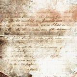 Papel escrito à mão velho abstrato Foto de Stock