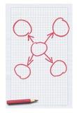 Papel esquadrado branco com gráfico vazio ilustração stock
