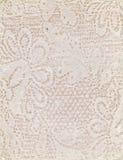 Papel feito a mão com teste padrão floral de Peack Fotos de Stock