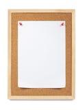 Papel fijado, tarjeta de aviso. Foto de archivo libre de regalías