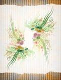 Papel floral Fotografía de archivo