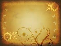 Papel floral de Grunge Imágenes de archivo libres de regalías