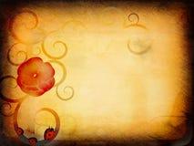Papel floral de Grunge Foto de archivo