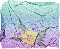 Papel floral de Grunge Fotos de archivo libres de regalías