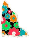 Papel floral de Scrapbooking Fotografia de Stock