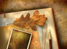 Papel floral do vintage com foto Imagens de Stock