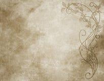 Papel floral ou pergaminho Imagens de Stock Royalty Free