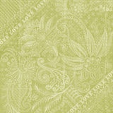 Papel floral verde do scrapbook do fundo do amor Fotos de Stock Royalty Free