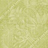 Papel floral verde do scrapbook do fundo do amor Fotos de Stock Royalty Free