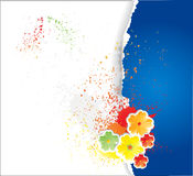 papel fragmentário com flores Foto de Stock