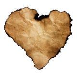 Papel heart-shaped queimado fotos de stock royalty free