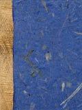 Papel hecho a mano, dejado puesto con la tela áspera Imagen de archivo