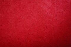 Papel hecho a mano rojo Foto de archivo libre de regalías