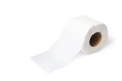 Papel higiénico aislado en el fondo blanco Foto de archivo