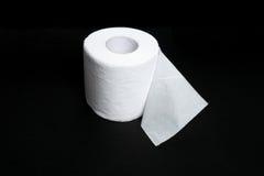 Papel higiénico blanco Foto de archivo libre de regalías