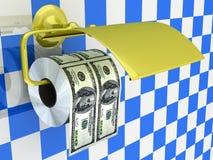 Papel higiénico costoso Foto de archivo