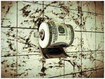 Papel higiénico del dólar Imagen de archivo libre de regalías