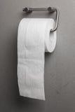 Papel higiénico em um suporte fotos de stock