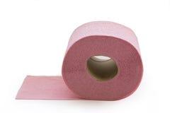 Papel higiénico rosado Foto de archivo libre de regalías