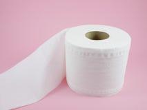 Papel higiênico branco do tecido Imagens de Stock