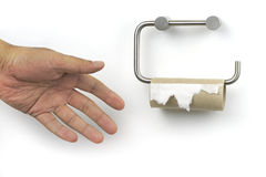 Papel higiênico terminado foto de stock
