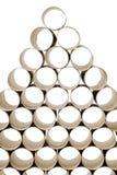 Papel higiênico usado Rolls Fotos de Stock