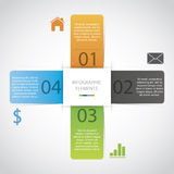 Papel Infographic Foto de archivo libre de regalías