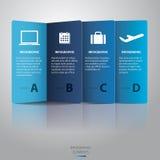 Papel Infographic - vector Foto de archivo libre de regalías