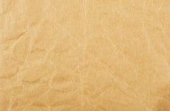 Papel marrón arrugado Imagenes de archivo