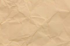Papel marrón arrugado Fotos de archivo