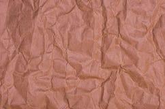Papel marrón arrugado Fotos de archivo libres de regalías