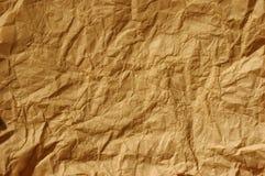 Papel marrón arrugado Imagen de archivo