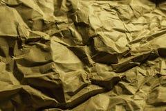 Papel marrom amarrotado Imagens de Stock