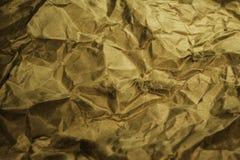 Papel marrom amarrotado Fotografia de Stock
