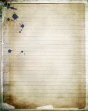 Papel mergulhado do caderno Imagem de Stock Royalty Free